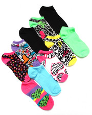 Accessories - Crazy Hearts 10 Pk No Show Socks