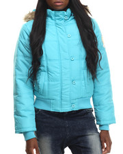 Apple Bottoms - Hooded Puffer Jacket