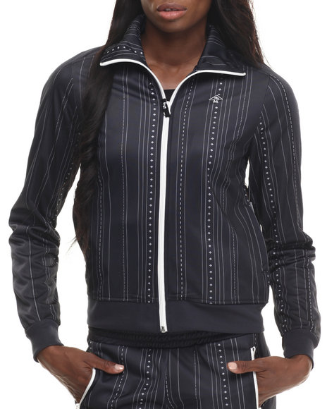 Ur-ID 199565 LRG - Women Black Bullet Tricot Track Jacket by LRG