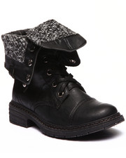 Footwear - Crowley Lace Up Foldover Knit Inside Boot