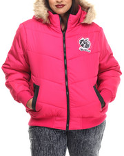 Apple Bottoms - Hooded Puffer Jacket (Plus)