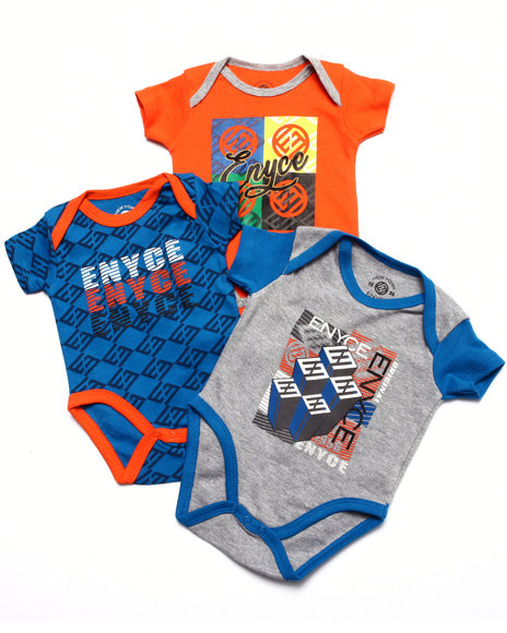 Enyce - Boys Blue 3 Pc Creeper Set (Newborn) - $15.99