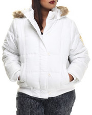 Outerwear - Fur Hood Puffer Jacket (Plus)