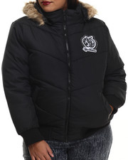 Heavy Coats - Hooded Puffer Jacket (Plus)