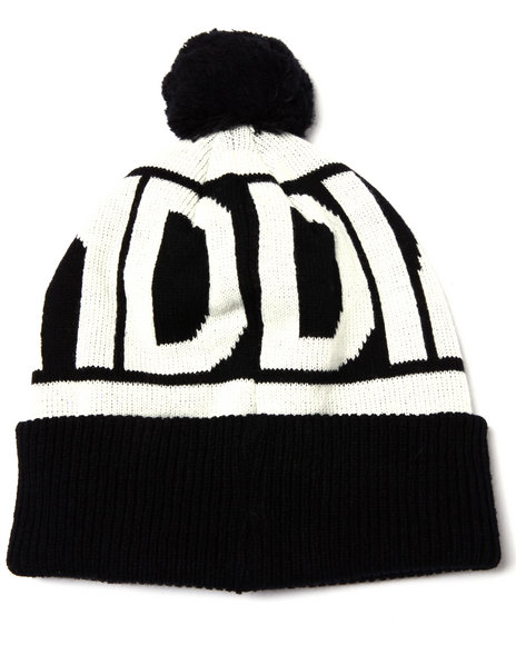 Ur-ID 222931 Diamond Supply Co - Men Black Caroline Pom Pom Beanie