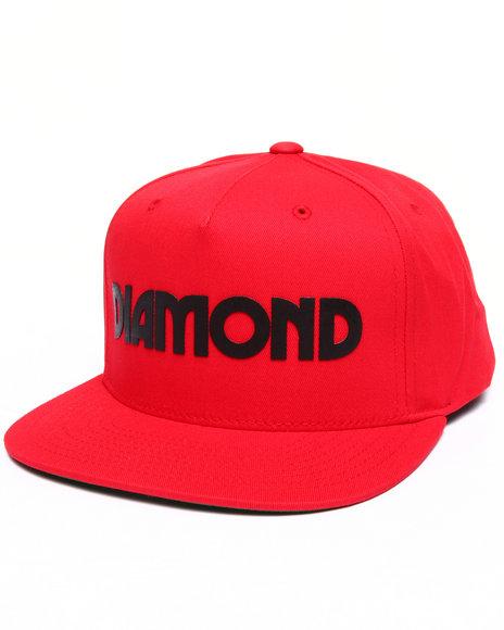 Diamond Supply Co Men Caroline Snapback Cap Red