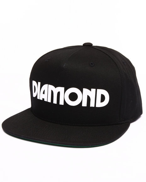 Diamond Supply Co Men Caroline Snapback Cap Black