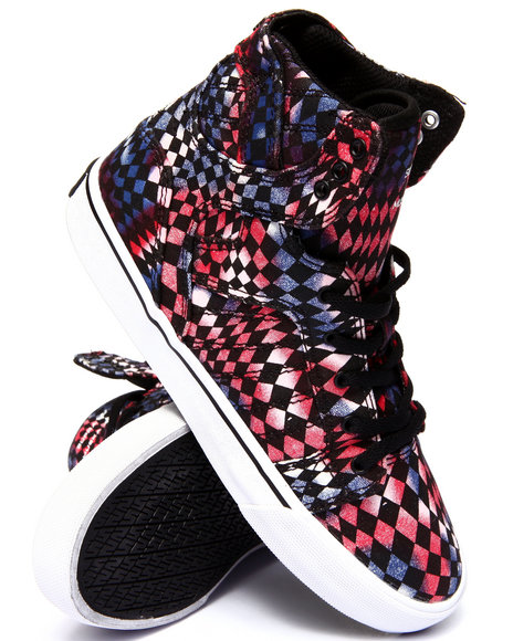 Supra - Boys Multi Supra Swirl Skytop Sneakers (4 -6 Youth)