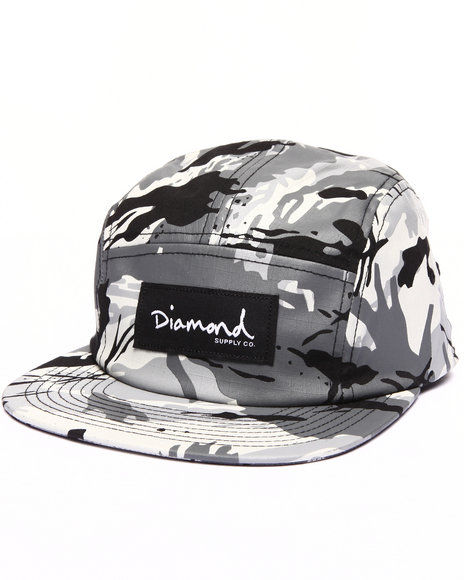 Diamond Supply Co Men Ls Camo Camp Hat Grey