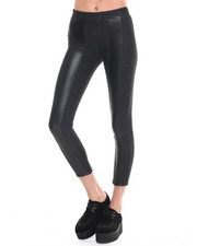 Bottoms - City Skins Perforated Faux Leather Denim Legging