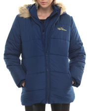 Heavy Coats -  Double Zip Puffer Jacket
