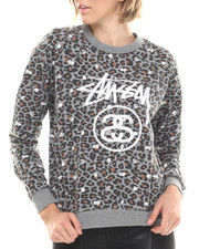 Women - Leopard Terry Crew Sweatshirt