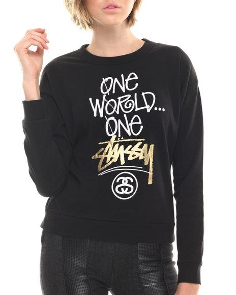 Stussy Black Sweatshirts
