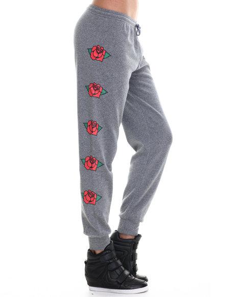 Stussy - Women Grey Stussy Rose Sweatpants