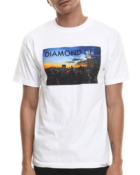 Diamond Supply Co - Men White Diamond Life Ny Tee