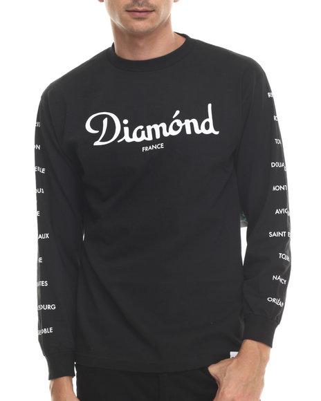 Diamond Supply Co - Men Black France L/S Tee