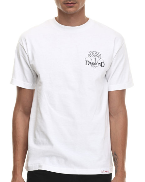 Diamond Supply Co - Men White Coveted Tee