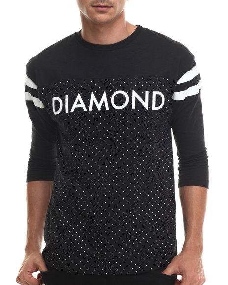Diamond Supply Co - Men Black Micro Diamond Football Top
