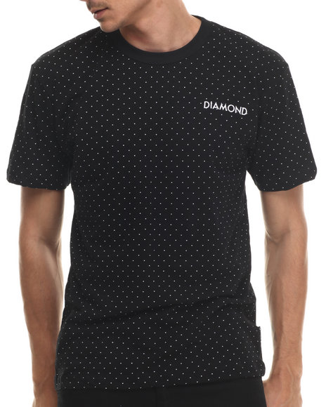 Diamond Supply Co - Men Black Micro Diamond Tee