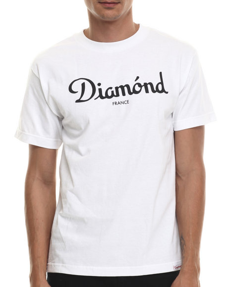 Diamond Supply Co - Men White Champagne Tee