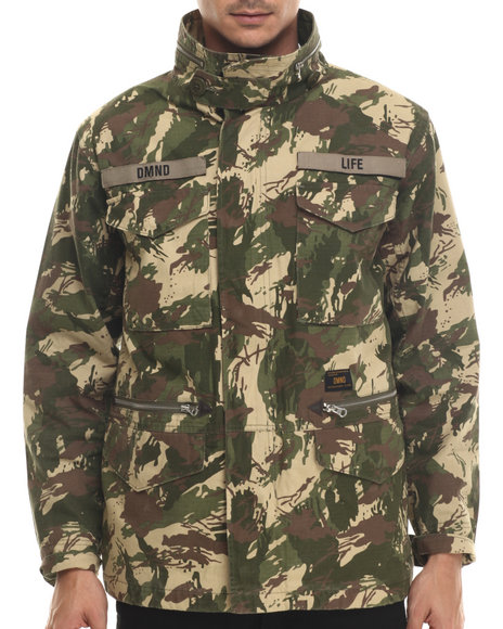 Diamond Supply Co - Men Camo,Green Ls M65 Jacket