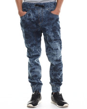 Men - Acid Washed Denim Joggers