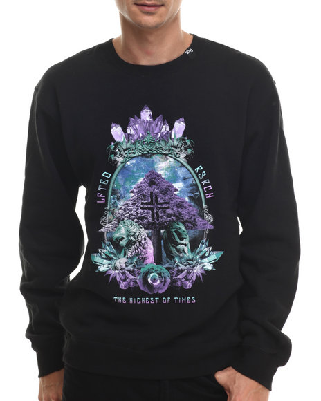 Lrg - Men Black Highest Of Times Crewneck Sweatshirt