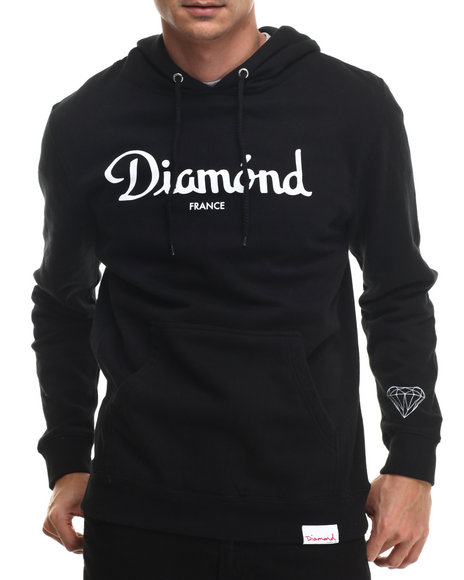 Diamond Supply Co - Men Black Champagne Hoodie