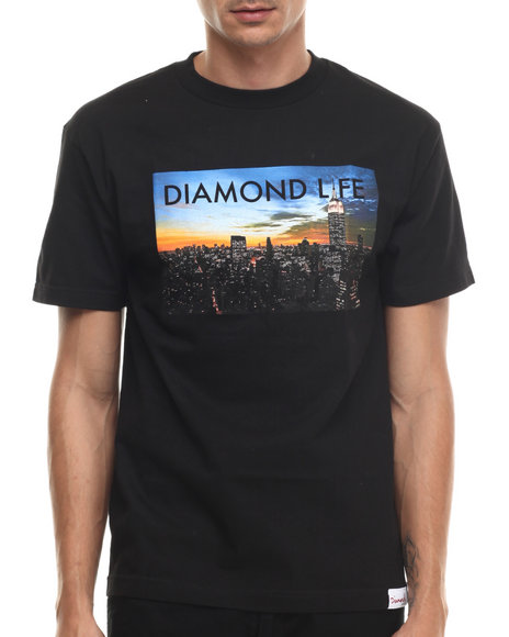 Diamond Supply Co - Men Black Diamond Life Ny Tee