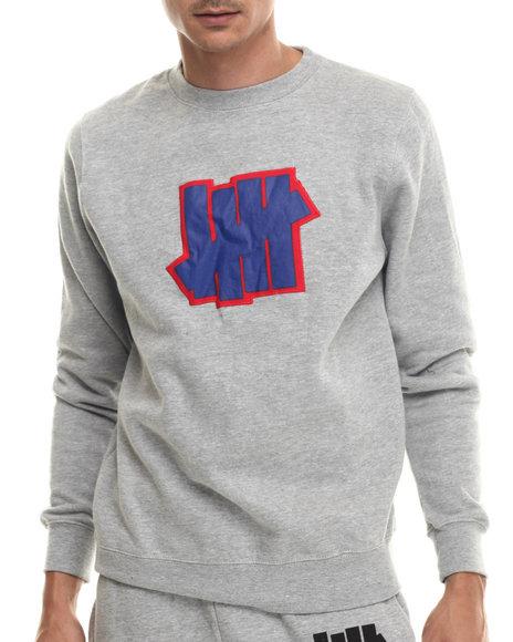 Undftd Grey Pullover Sweatshirts