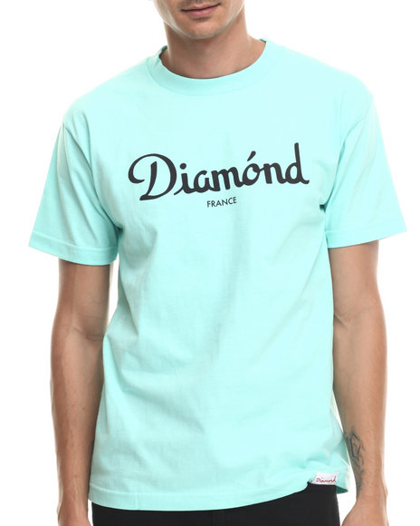 Diamond Supply Co - Men Teal Champagne Tee