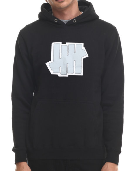Undftd - Men Black Double 5 Strike Pullover Hoodie
