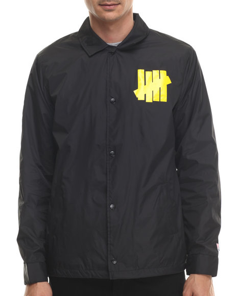 Undftd - Men Black Bad Sports Coach Jacket