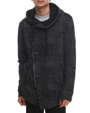 Buyers Picks - Aztec Multi - Block Printed Fleece Hooded Jacket