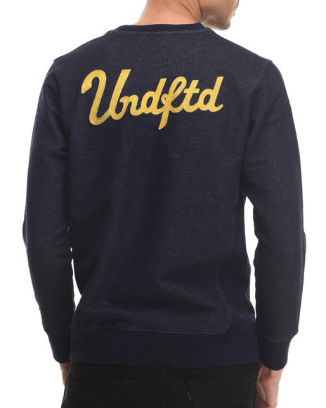 Undftd - Men Indigo Chain Crew Sweatshirt