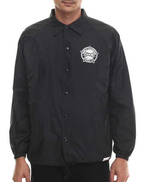 Diamond Supply Co - Men Black World Renowned Coach's Jacket