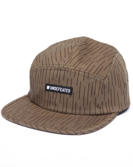 Undftd Men Raindrop Camp 5-Panel Cap Raw Wash