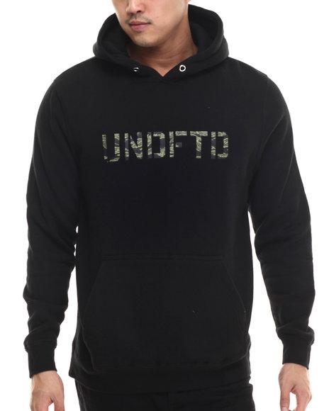 Undftd - Men Black Camo Stencil Pullover Hoodie