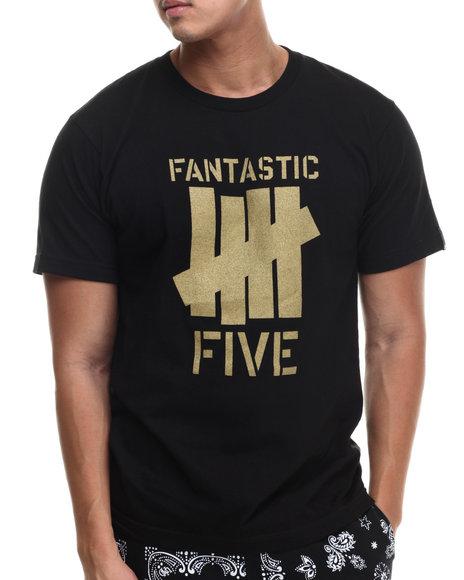 Undftd - Men Black Fantastic 5 Strike Tee