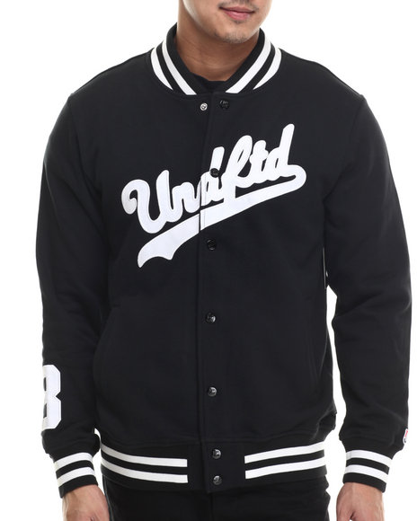 Undftd - Men Black Script Varsity Jacket