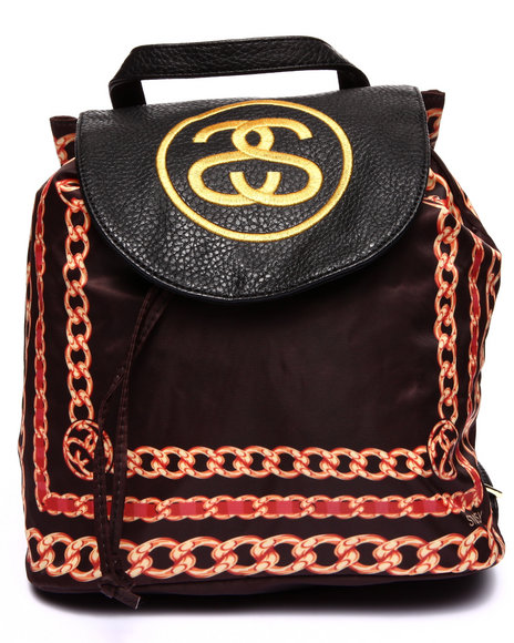 Stussy Women Scarf Mini Backpack Black
