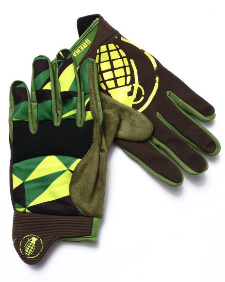 Grenade - Men Green Task Force Pipe Gloves