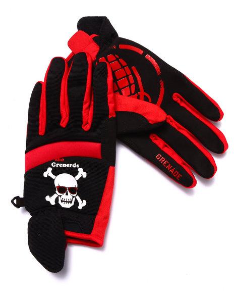 Grenade - Men Red Grenerds Pipe Gloves
