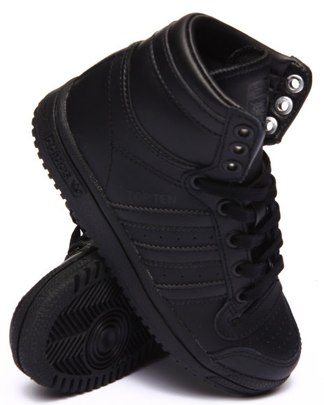 Adidas - Boys Black Top Ten Hi C Sneakers (11-3) - $49.99