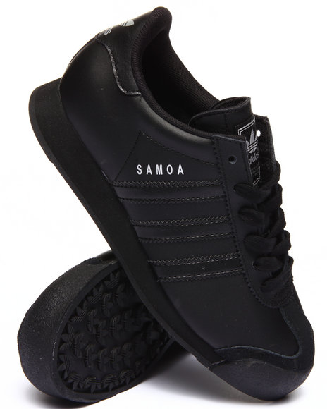 Adidas - Boys Black Samoa J Sneakers (3.5-7)