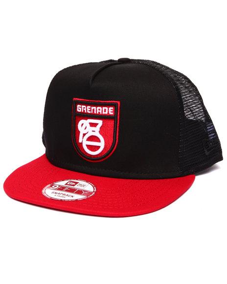 Grenade Men Grenade Mod Logo New Era Mesh Snapback Cap Red