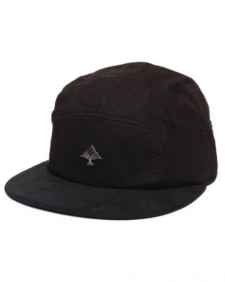 Lrg Men Bedford 5-Panel Hat Black