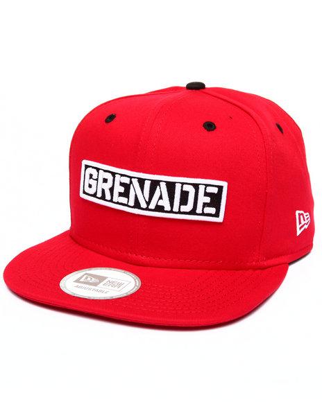 Grenade Men Grenade Wordmark New Era Snapback Cap Red
