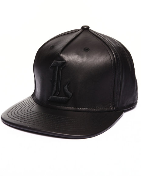 Lrg Men Buttery 100% Leather Hat Black