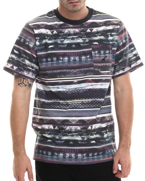 Lrg - Men Multi Research Collection Striped T-Shirt - $30.99